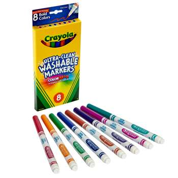 Washable Bold Colors Marker Thin-8 By Crayola