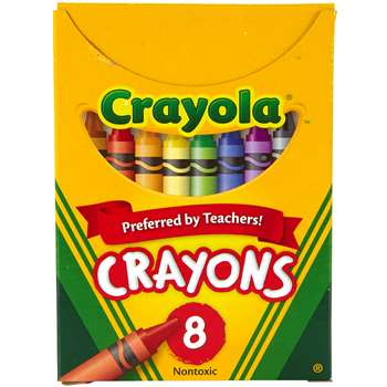 Crayola Crayons Regular Size 8 Colors By Crayola