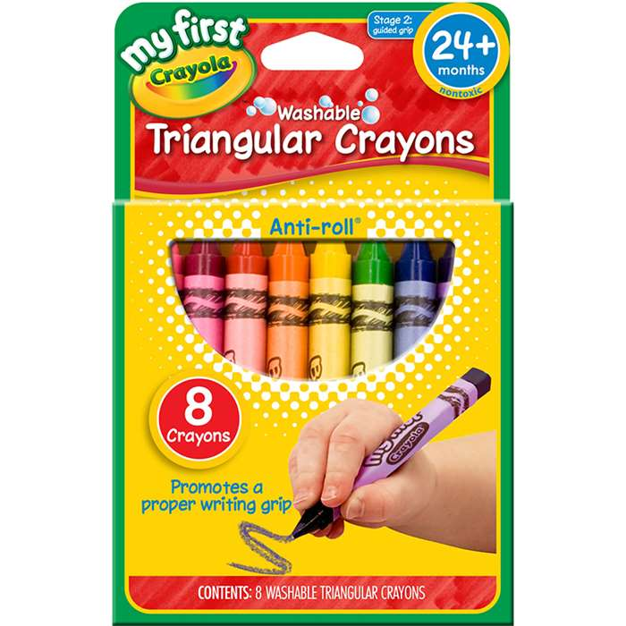 My First Crayola 8Ct Triangular Crayons By Crayola