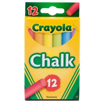 Crayola Colored Low Dust Chalk By Crayola