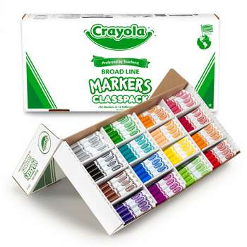 Classpack Marker 16 Colors 256 Ct By Crayola