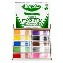 Crayola Classpk Markers 200 Ct Non-Washable Fine Tip By Crayola