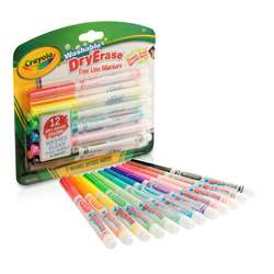 Crayola 12 Color Washable Dry Erase Markers, BIN985912