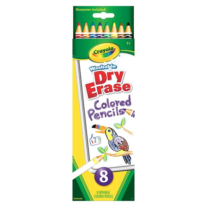 Crayola Dry Erase Washable Colored Pencils 8Pk By Crayola