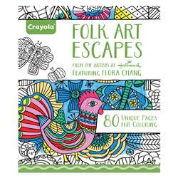 Coloring Book Folk Art Escapes, BIN992020