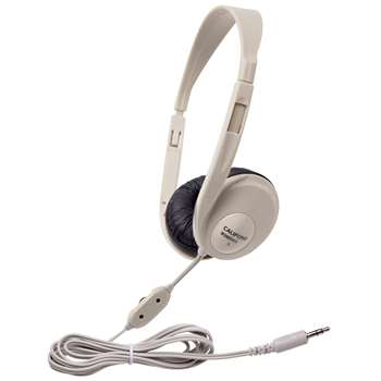 Translucent Multimedia Stereo Head Phones Beige By Califone International