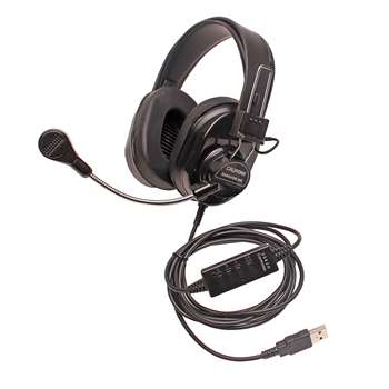 Deluxe Stereo Headset, CAF3066USBBK