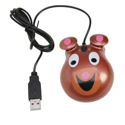 Animal-Themed Computer Mice Bear Motif By Califone International