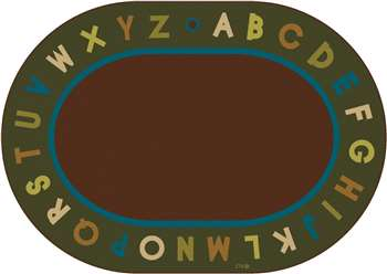 "Alphabet Circletime Nature Oval 8'3""x11'8"" Carpet, Rugs For Kids"