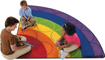 Rainbow Rows Corner 6' Carpet, Rugs For Kids