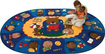 "Sign Say & Play™ Rug* Oval 8'3""x11'8"" Carpet, Rugs For Kids"