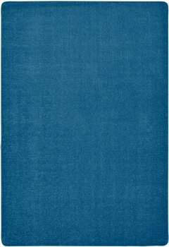 "Mt St Helens Solids Marine Blue Rectangle 8'4""x12' Carpet, Rugs For Kids"