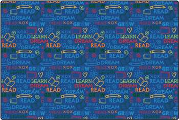 Read to Dream Pattern Rug Rectangle 8'x12' Carpet, Rugs For Kids