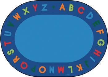 "Alphabet Circletime Oval 8'3""x11'8"" Carpet, Rugs For Kids"