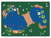 "The Pond Rectangle 5'10""x8'4"" Carpet, Rugs For Kids"