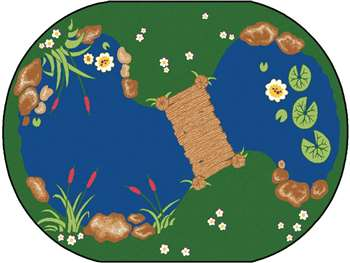 "The Pond Oval 4'5""x5'10"" Carpet, Rugs For Kids"