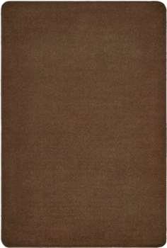 Mt Shasta Solids Cocoa Rectangle 6'x9' Carpet, Rugs For Kids