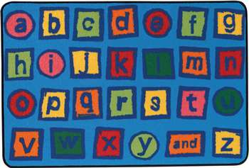 "Alphabet Blocks Rectangle 3'x4'6"" Carpet, Rugs For Kids"