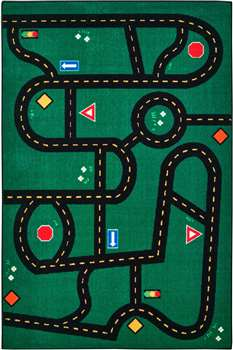 "Go-Go Driving Rug Rectangle 3'x4'6"" Carpet, Rugs For Kids"