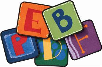 Toddler Alphabet Blocks Kit - Primary Kit Set of 26 Carpet, Rugs For Kids