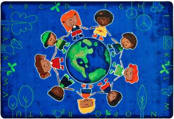 "Give the Planet a HugTM Rug Rectangle 5'5''x7'8"" Carpet, Rugs For Kids"