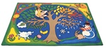 "A Tree for All Seasons Rectangle 5'10"" x 8'4"" Carpet, Rugs For Kids"