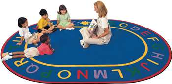 "Alpha Rug Oval 8'3""x11'8"" Carpet, Rugs For Kids"