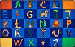 "A to Z Animals! Rectangle 7'6""x12' Carpet, Rugs For Kids"