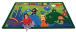 "A World of Imagination Rectangle 5'5''x7'8"" Carpet, Rugs For Kids"