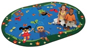 "Chasing Butterflies Alphabet Rug Oval 3'10""x5'5"" Carpet, Rugs For Kids"