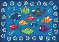 "Fishing for Literacy Rectangle 5'5''x7'8"" Carpet, Rugs For Kids"