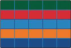Color Blocks Value Seating Rug  Rectangle 6'x9' Carpet, Rugs For Kids