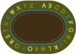 "Philippians 4:13 Literacy Rug - Nature Oval 8'3""X11'8"" Carpet, Rugs For Kids"