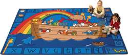 "Alphabet Noah Rectangle 5'5''x7'8"" Carpet, Rugs For Kids"
