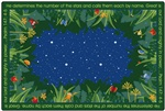 He Numbers the Stars Rug Rectangle 4'x6' Carpet, Rugs For Kids