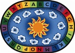 "Isaiah 40:28 Circletime Rug Oval 6'9""x9'5"" Carpet, Rugs For Kids"