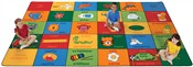 "Bilingual Alphabet Blocks Rectangle 7'6""x12' Carpet, Rugs For Kids"