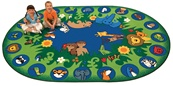 "Circletime Garden of Eden Oval 6'9''x9'5"" Carpet, Rugs For Kids"