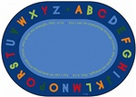 Philippians 4:13 Literacy Rug Oval 6'x9' Carpet, Rugs For Kids