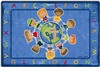 All God's Children Circletime Rug Rectangle 4'x6' Carpet, Rugs For Kids