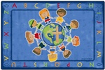 All God's Children Circletime Rug Rectangle 8'x12' Carpet, Rugs For Kids