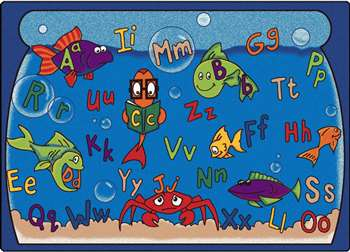 "Alphabet Aquarium Rectangle 5'10""x8'4"" Carpet, Rugs For Kids"
