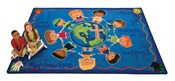 "Great Commission Childrens Rug Rectangle 5'5''x7'8"" Carpet, Rugs For Kids"