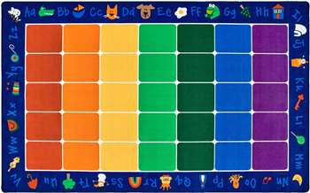 "Fun with Phonics Seating Rug Rectangle 7'6""x12' Carpet, Rugs For Kids"