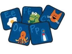 Fun with Phonics Kit Kit Set of 26 Carpet, Rugs For Kids
