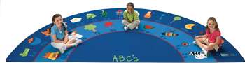 Fun with Phonics Semi-Circle 6'8''x13'4'' Carpet, Rugs For Kids