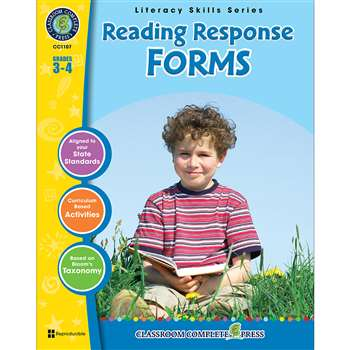 Reading Response Forms Grs 3-4 By Classroom Complete