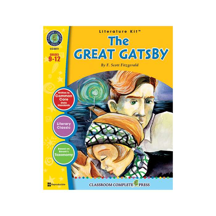 The Great Gatsby F Scott Fitzgerald Lit Kit Gr 9-1, CCP2011