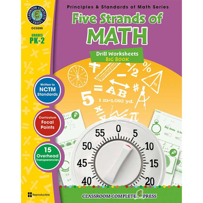 Drill Sheets Five Strands Of Math Big Book Gr Pk-2 Principles Math By Classroom Complete