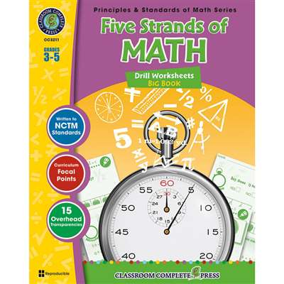 Drill Sheets Five Strands Of Math Big Book Gr 3-5 Principles Math By Classroom Complete